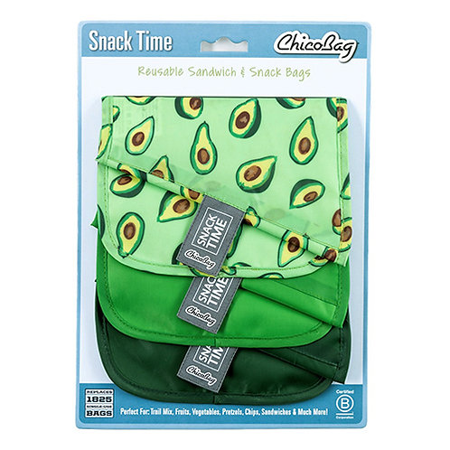 ChicoBag Snack Time Re-usable Bags Avocado