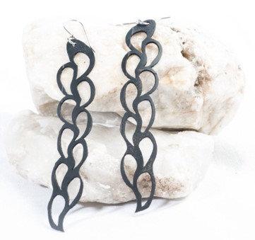 Long Leaf Earrings - Upcycled