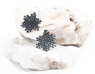 Snowflake Eco-Upcycle Earrings