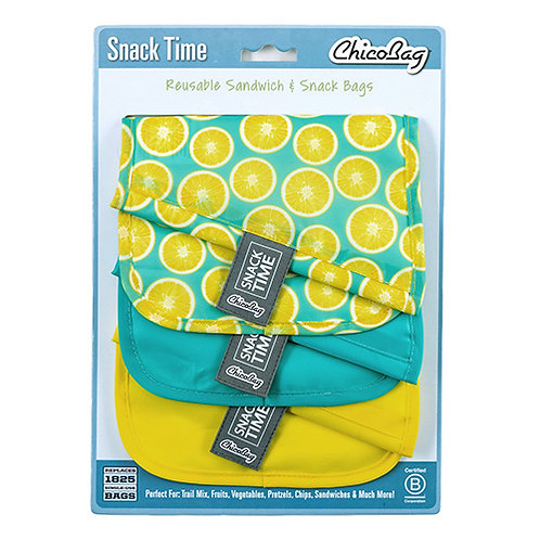 Chicobag Snack Time Re-usable Bags (Lemon)