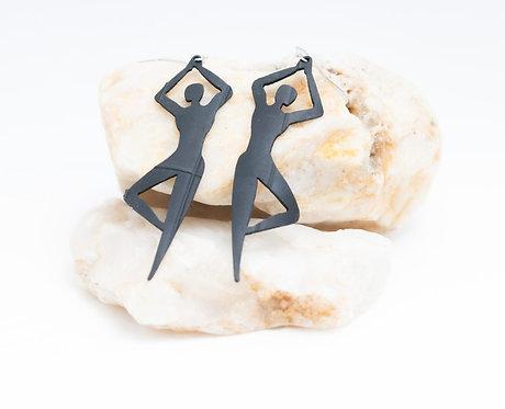 Yoga Tree Pose Repurposed Earrings