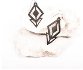 Upcycle Diamond D. Arrows Earrings