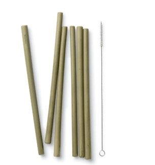 Reusable Bamboo Straws Set