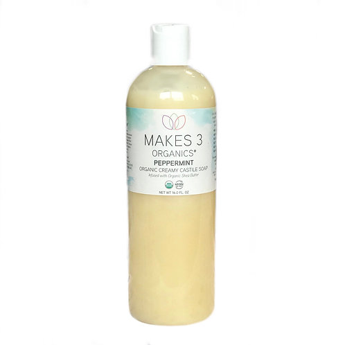 Peppermint Creamy Castile Liquid Soap w/ Shea