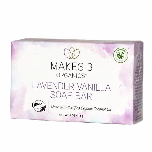 Lavender Vanilla Organic Soap Bar