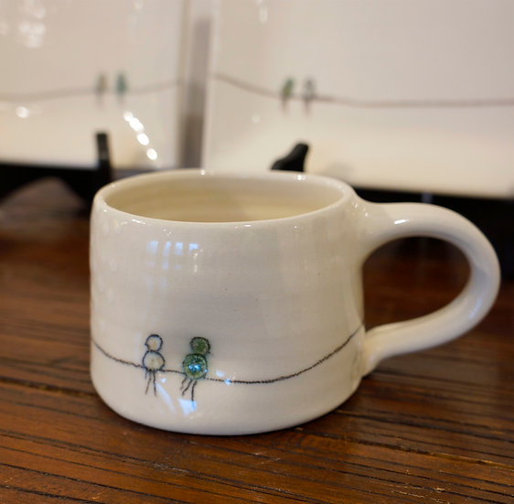 Short Mug - Bird Collection(white)
