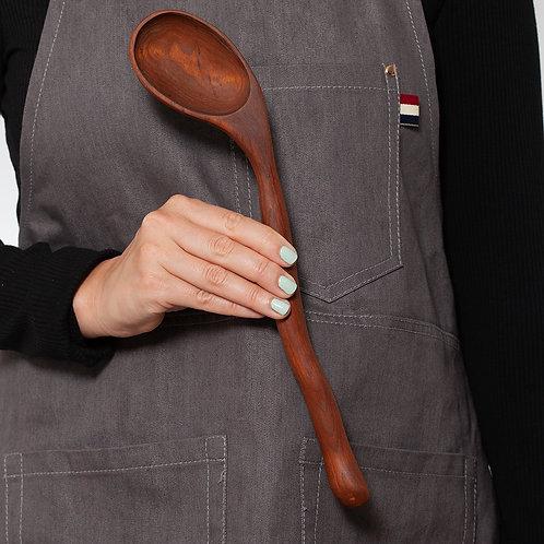 Long Serving Spoon - Dark Coloured Wood