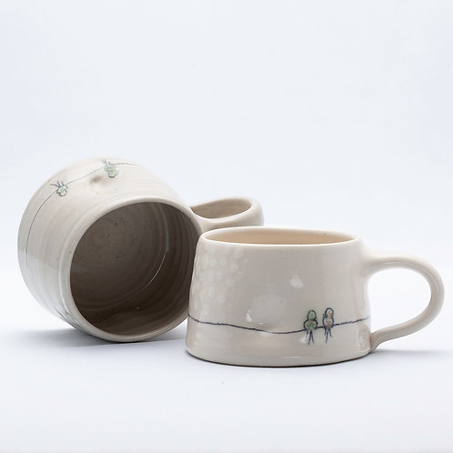 Short Mug, Bird on Wire series