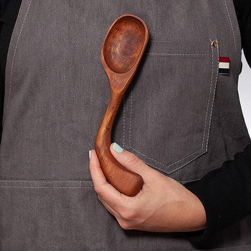 Dark Wood Serving Spoon - Right Handed