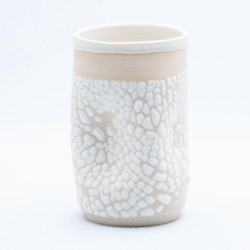 Tumbler, White Stoneware in White