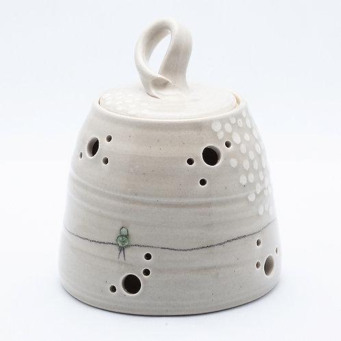 Garlic Pot, Bird on Wire series
