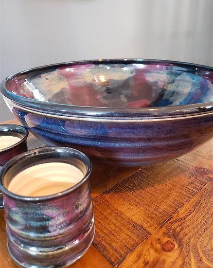 Large Porcelaine Bowl, deep blues