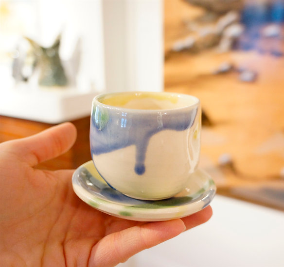 Espresso Cup & Saucer - Apple Art Collection