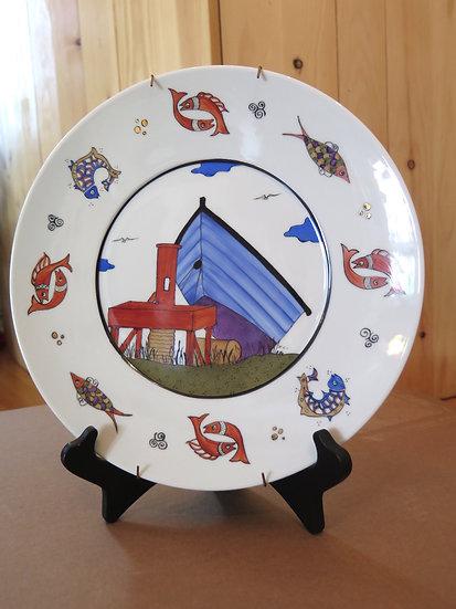 Nautile, decorative plate