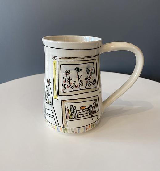 Large Animal mug, scene all around