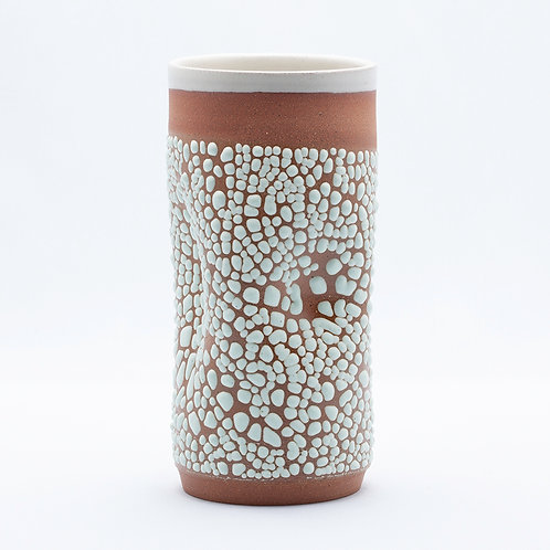 Tall Vase, Red Stoneware in Mint