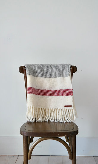 Wool Throw Blanket 1ply