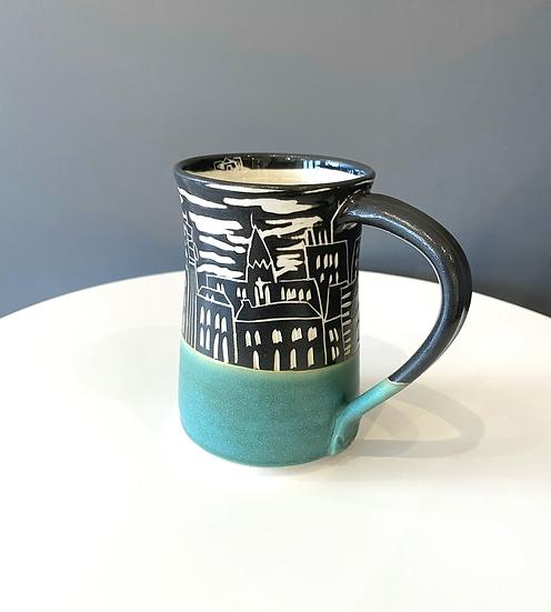 Moncton Skyline Large Mug (Teal)