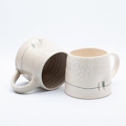 Large Mug, Bird on Wire series