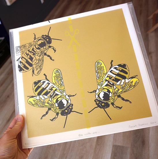 """""""Bee with me..."""" by Carole Deveau"""