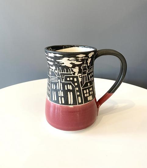 Moncton Skyline Large Mug (red)