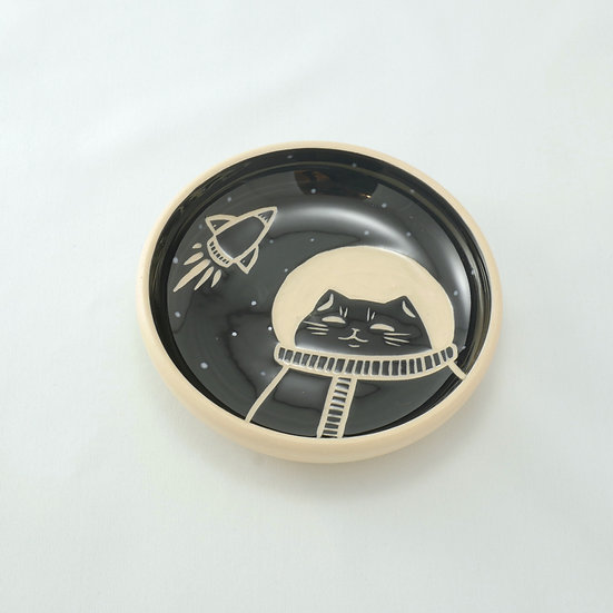 Space Cat Ring Dish