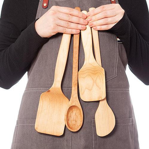 4pc Wooden Kitchen Utensils Set