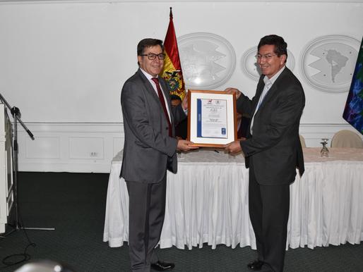 LA AGENCIA BOLIVIANA ESPACIAL OBTIENE LA CERTIFICACIÓN ISO 9001