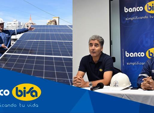 BANCO BISA AMPLÍA SU CAPACIDAD PARA GENERAR ENERGÍA LIMPIA EN SUS EDIFICIOS