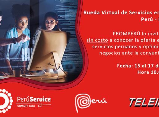 PERÚ – BOLIVIA 2020, RUEDA VIRTUAL DE SERVICIOS TECNOLÓGICOS