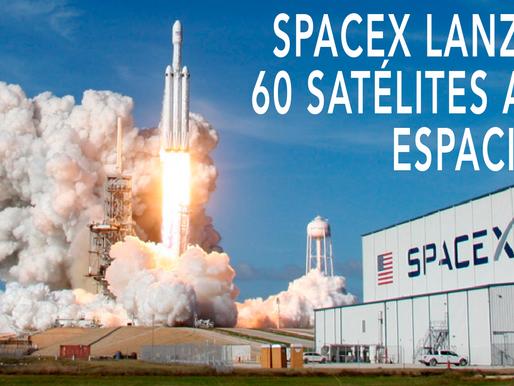 SPACEX LANZA 60 SATÉLITES AL ESPACIO