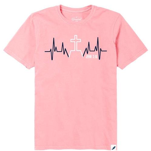 Women's John 3:16 Heartbeat Tee