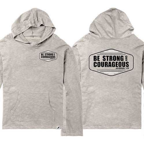 Be Strong & Courageous Lightweight Slub Hoodie