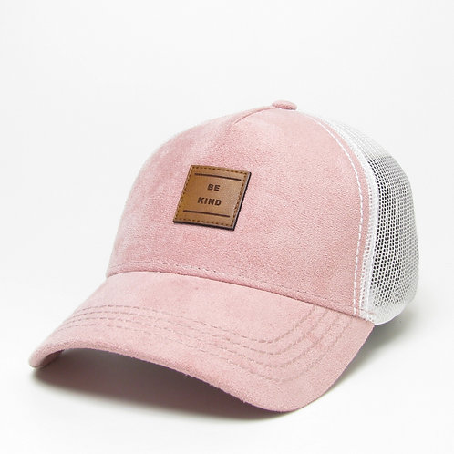 Women's BE KIND Moda Trucker w/ Leather Patch