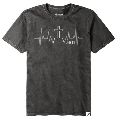 John 3:16 Heartbeat Tee