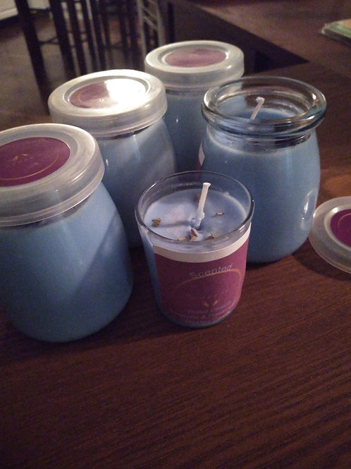 Scented Throat Chakra Blessed Candle