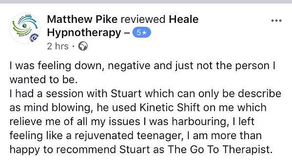 Hypnotherapy testimonial Stuart Heale th
