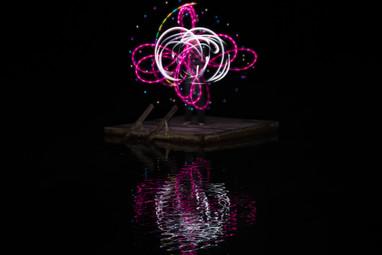 Pink LED Poi