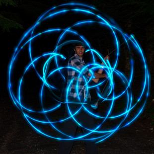 Blue LED Poi