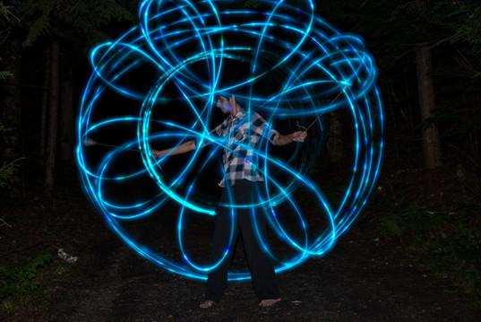 Blue LED Poi