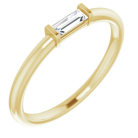 14kt Geel Gouden ring met Diamanten 0,17ct
