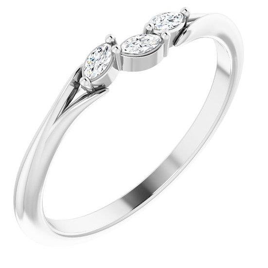 14kt Wit Gouden ring met diamanten 0,10ct