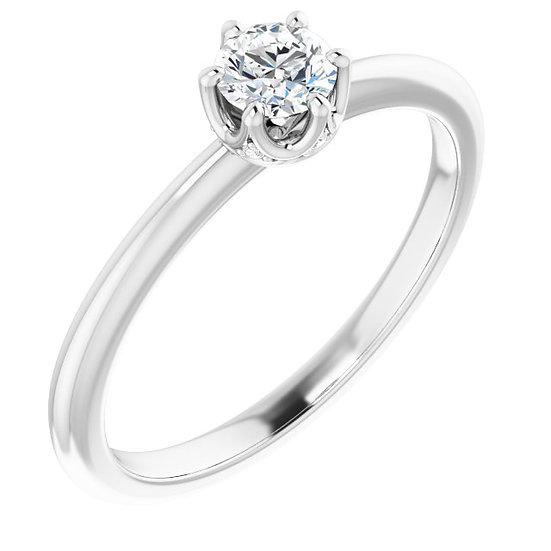 18kt Wit Gouden ring met diamanten 0,28ct
