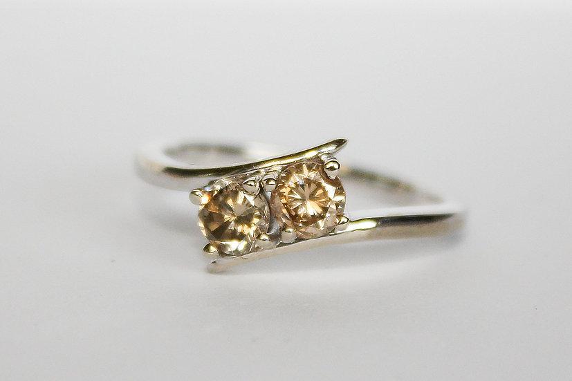 Nieuwe 14 Karaat Witgouden Ring Met 0.73ct Natuurlijke Diamanten