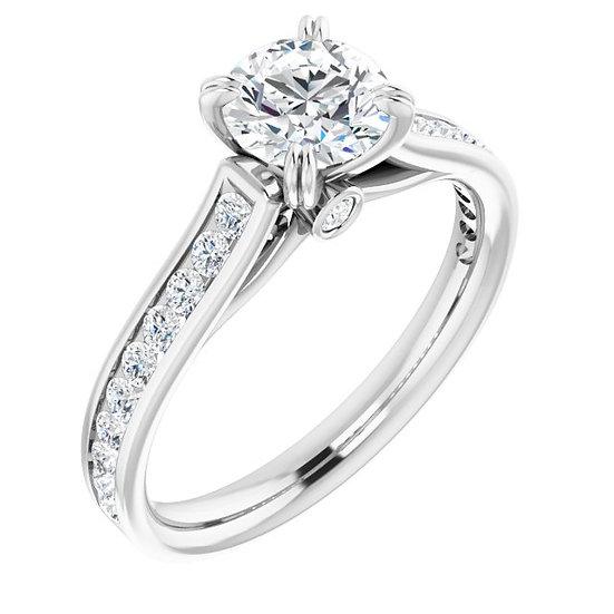 18kt Wit Gouden Verlovingsring totaal 1.32ct diamanten