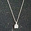 Thumbnail: Zilveren Hanger inclusief ketting van 50cm, afgewerkt met Zirkonia,s