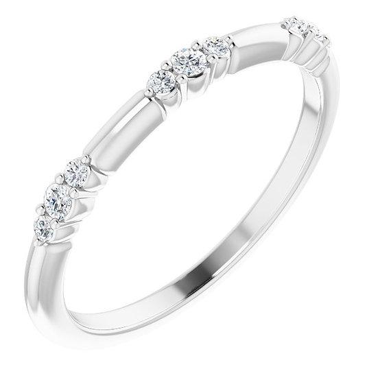 14kt Wit Gouden ring met diamanten 0,12ct