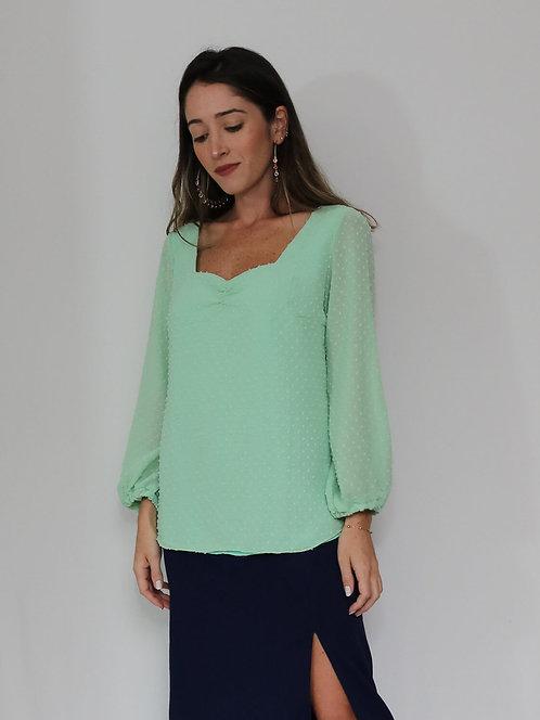 Blusa Aurora Verde Cidra