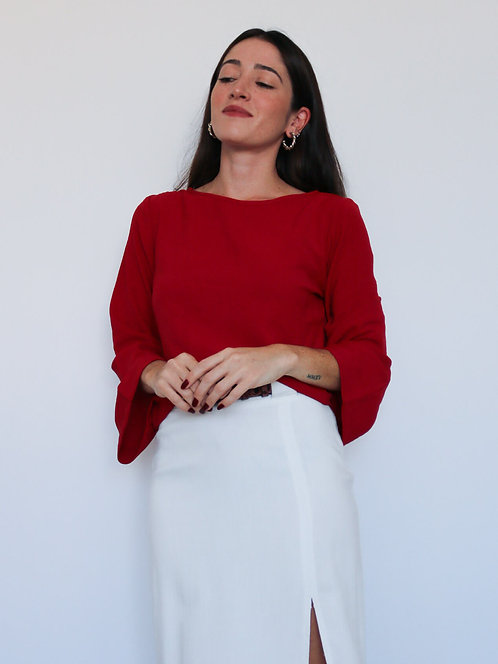 Blusa ML Vermelha Michelle