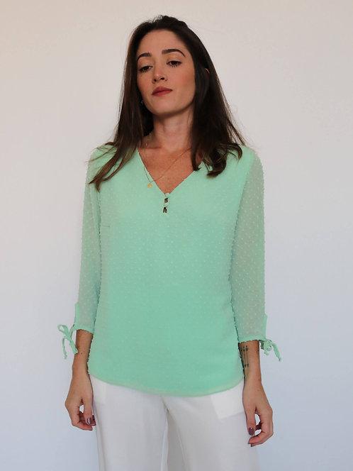 Blusa 3/4 Anitta Verde Cidra
